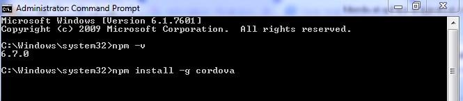 install cordova
