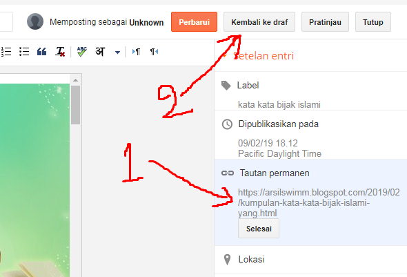 edit permalink blogspot