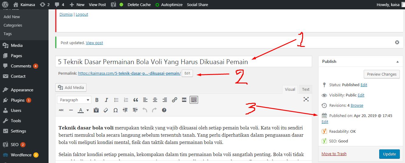 merubah permalink di wordpress