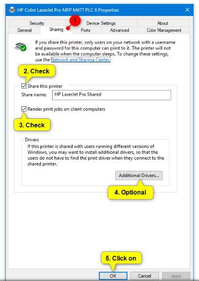 sharing printer - halaman sharing printer